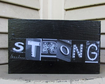 STRONG art Photo Letter Art on Wood alphabet photography wood letter art