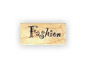 FASHION mounted word rubber stamp, Sweet Grass Stamps No.5