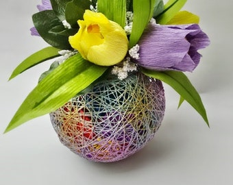 Spring Easter Gift for Her Gift Yarn bowl with chocolates Dave Candy bouquet. Candy arrangement. Candy gift