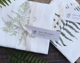 Wild Fern Kitchen Towels : Set of 2