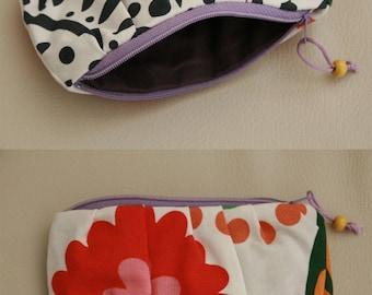 """Pretty little purse """"multicolored arabesques"""" cotton"""
