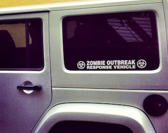 Zombie Outbreak Response Vehicle - car decal vinyl