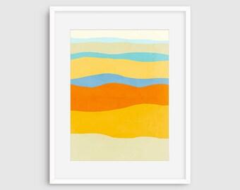 Art Print Abstract, Mid Century Modern Art, Minimalist Art, Modern Nursery Decor, Abstract Nursery Art, Abstract Print, Colourful Wall Art