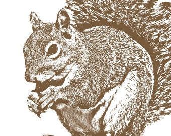 The Squirrel Did It - 11x14 Signed Art Print