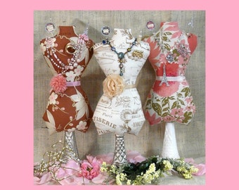 Large Mannequin Dress Form Pattern PDF - jewelry holder