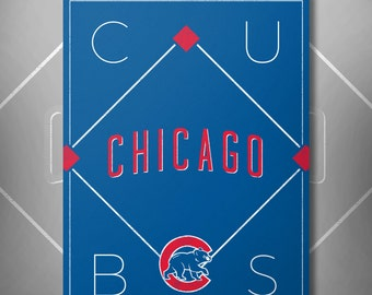 Chicago Cubs Baseball Poster