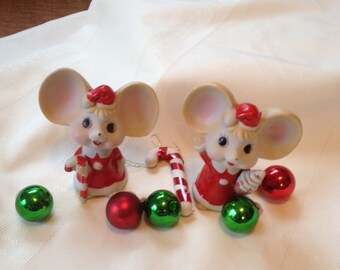Vintage Christmas Mice Very Cute!!!!