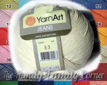 Cotton Yarn - Jeans, YarnArt. Crochet cotton, knitting cotton. DSH