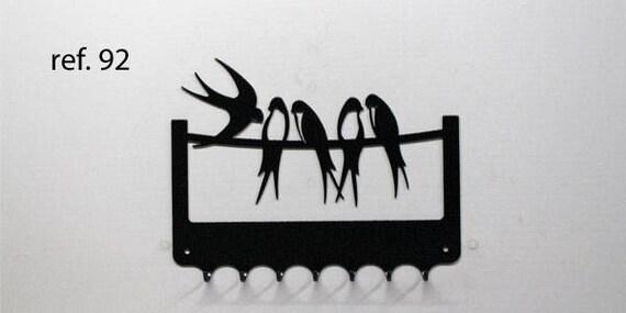Hook keys metal design: swallows