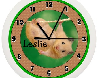 Personalized Hamster Gerbil WALL CLOCK