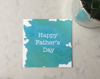 Watercolour Father's Day Card
