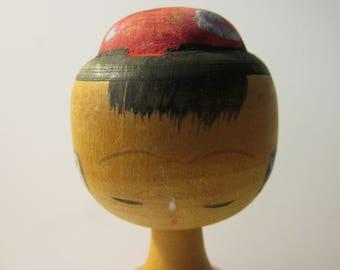 """4 3/8"""", Long Neck Japanese Girl Kokeshi Doll"""