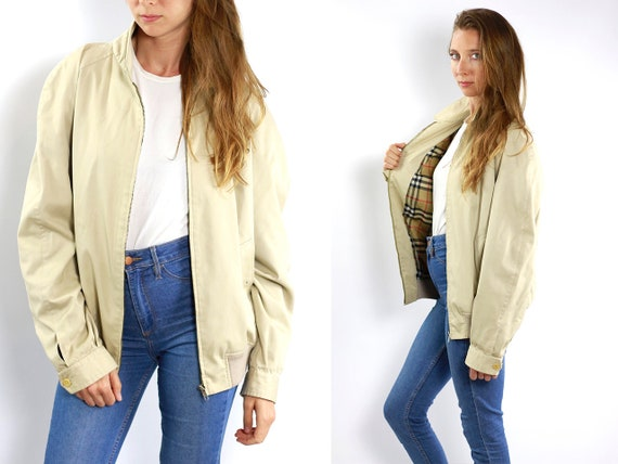 Burberry Jacket Burberry Bomber Jacket Burberrys Bomberjacket Summer Jacket Burberry Beige jacket Burberry Jacket Women Jacket Light Summer
