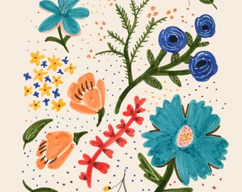Floral Illustration Print