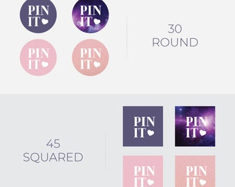 Pinterest Pin It Buttons • Blog Graphics • Web Elements • PNG  • Instant Download