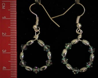 lovely hematite earrings