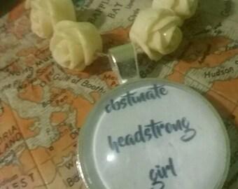 Handmade Necklace / Pride and Prejudice / Literary Necklace