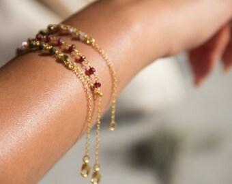 Ruby Bracelet, layered bracelet,gemstone bracelet
