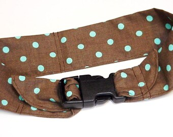 """Canine Cooling Collar, Dog Neck Cooler Bandana, Fabric Polymer Collar with Buckle, Pet Cool Ti, Size Large 18 - 22"""" Chocolate Brown iycbrand"""