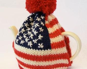 American Flag Tea Cosy Knitting Pattern