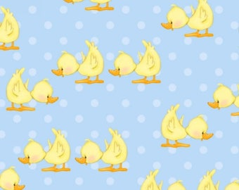 Blue Duck Flannel Fabric - Comfy Flannel - A.E. Nathan