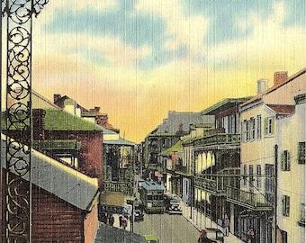 New Orleans, Louisiana, French Quarter, Royal Street - Vintage Postcard - Postcard - Unused (VV)
