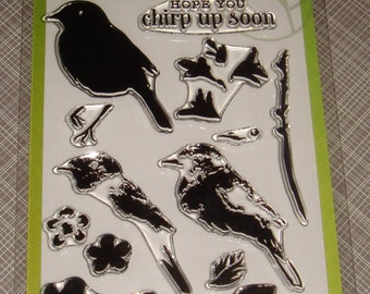 "Hero Arts- Clear Color Layering Stamps - ""Bird and Branch"""