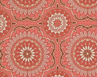 Joel Dewberry Fabric - 1/2 Metre Bungalow -  Doily in Coral / Free Spirit Fabric