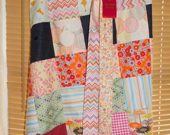 Handcrafted Waist Tied, Patchwork Cafe Apron, County Fair Prize Winner