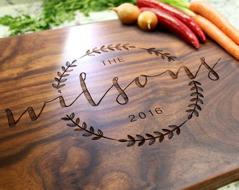 Personalized Cutting Board - Engraved Cutting Board, Custom Cutting Board, Wedding Gift, Housewarming Gift, Engagement Gift W-022 GB