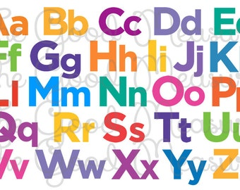 Instant Download - Chicka Chicka Boom Boom Inspired Multi Color Alphabet Placemat