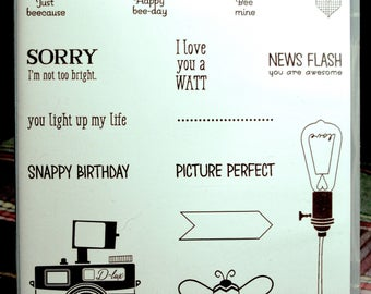NEW!! Stampin' Up! Pun Intended retired photopolymer Hostess stamp set (15)