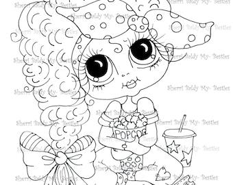 INSTANT DOWNLOAD  Digital Digi Stamps Big Eye Big Head Dolls Img122 Bestie By Sherri Baldy