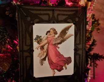 Victorian Angel Gothic Christmas Card