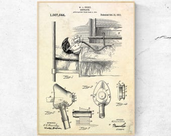 Acoustic stethoscope patent print electronic stethoscope respirator patent print respirator invention respirator wall art respirator print respirator poster malvernweather Images