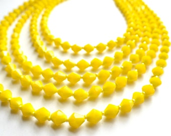 Sloane - Yellow Glass Bridesmaid Statement Necklace