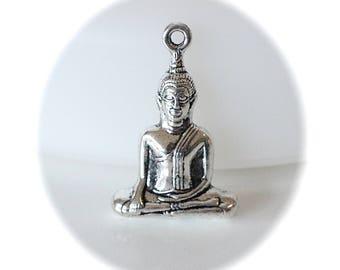 1 3D silver zen Buddha PENDANT