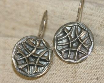 Silver  Earring,Sterling Silver  Earrings, Handmade 925 Silver Earrings, Israeli Designer,Everyday Wear Earrings,