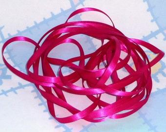 AZALEA DouBLe FaCeD SaTiN RiBBoN, Polyester 1/4 inch wide, 5 Yards