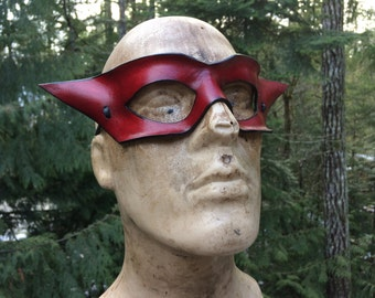 Red leather Mask
