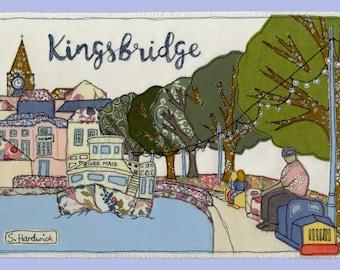 Kingsbridge - Free Motion Embroidery Giclee Print