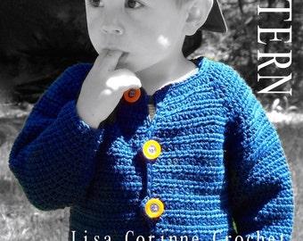 Baby Boy Sweater Crochet PATTERN, Baby Sweater PATTERN, Crochet Sweater