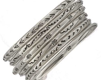 Navajo Hammered Silver Cuff Affordable Bracelets To Stack