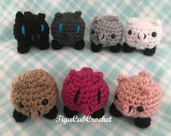 Crochet Mini Pig Piggy Piglet Farm Animal Cute Amigurumi Plush Made To Order