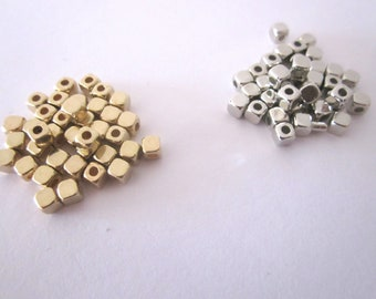 Set of 20 silver 3MM metal beads