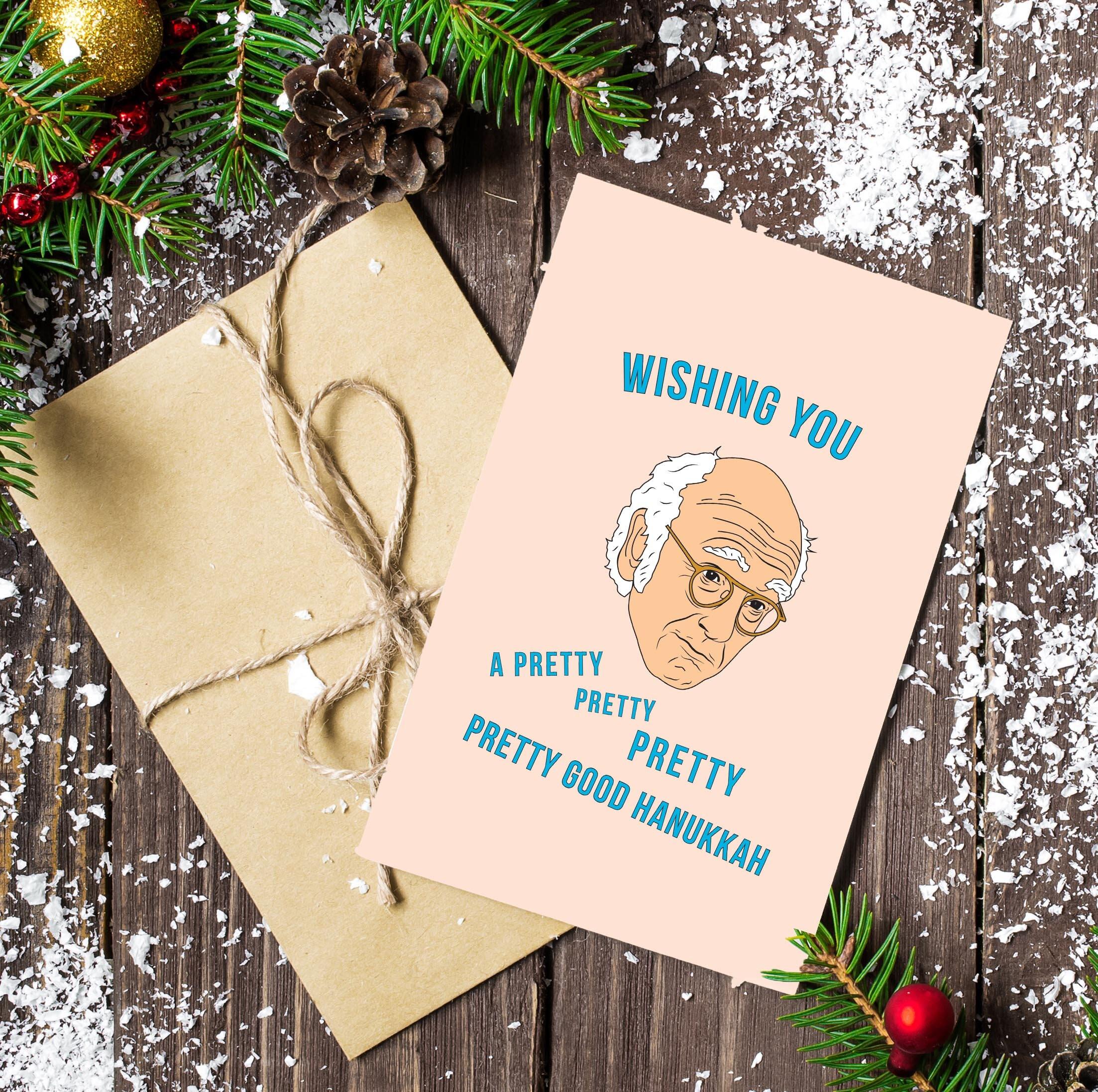 Larry David Hanukkah Card 5 Pack