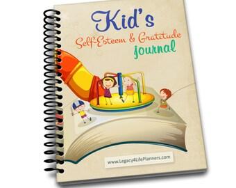 Kid's Self-Esteem & Gratitude Journal | 6.50 x 9| Spiral Bound Notebook | Blank Notebook