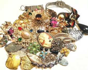 Vintage Repurpose DIY Craft Jewelry Lot