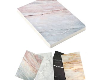 FREE SHIPPING  Marble Notepad NoteBook Journal