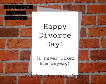 Divorce card etsy